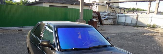 Синяя тонировка стекол автомобиля – современный тренд как отличный вариант тюнинга!