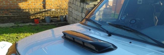 Воздухозаборник на капот УАЗ Патриот – грязь не пройдет