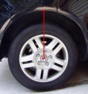 На фото - замер реального расстояния колес, knclub.ru