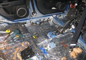 Фото шумоизоляции салона автомобиля, sam-tuning.narod.ru