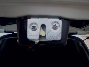 Фото регулировки замка багажника на Лада Калина, drive2.ru