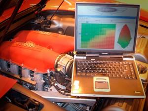 На фото - чип-тюнинг автомобиля, garage1.ru