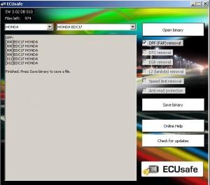 На фото - программа ECUSafe для чип-тюнинга автомобиля, ecuconnections.com
