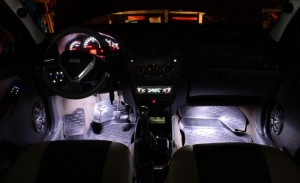 Фото подсветки для ног в салоне Лада Калина, клуб-лада.рф