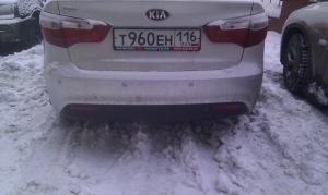 Фото тестирования парктроника Aviline, drive2.ru