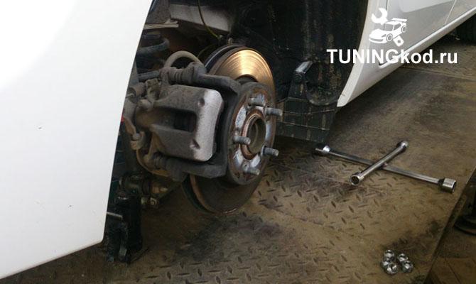 Тормозная система заднего колеса