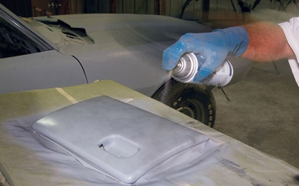 Фото покраски деталей салона баллончиком