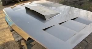 Фото установки воздухозаборника на капот, drive2.ru