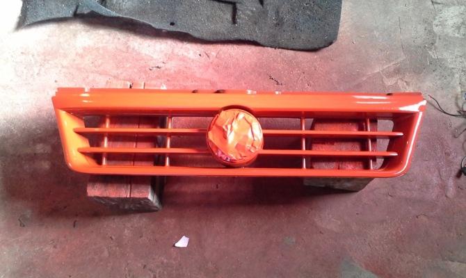 Фото покраски решетки радиатора