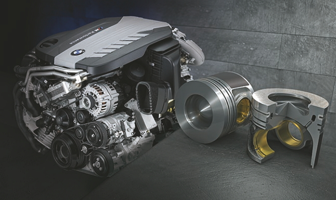 Турбированный дизельный мотор автомобиля BMW