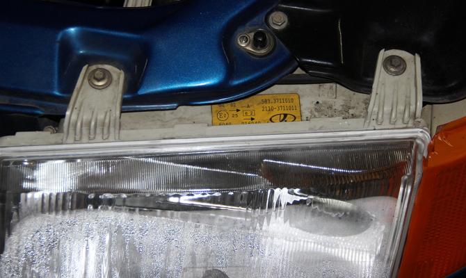 Снятие фар с автомобиля ВАЗ 2110