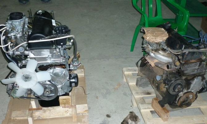 Фото замены двигателя Нивы