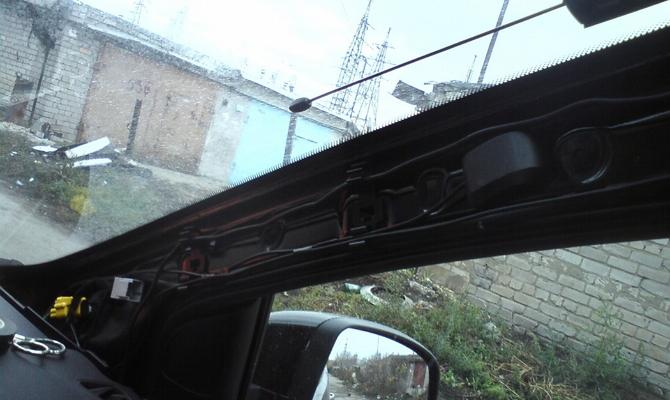 Прокладывание шлейфа от GPS антенны