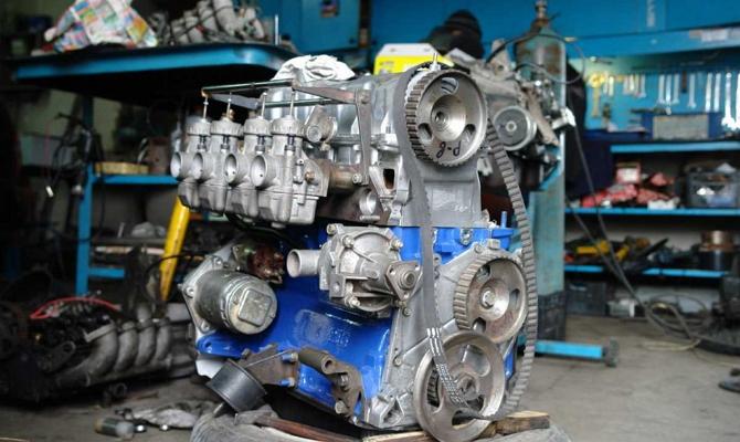 Установка мотора ВАЗ 2101