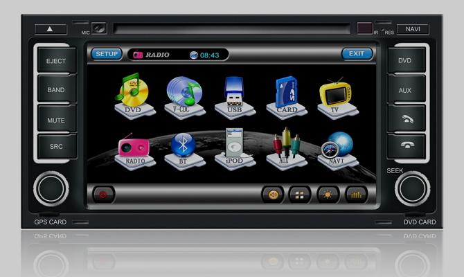 Мультимедийная система с функцией навигатора и телевизора