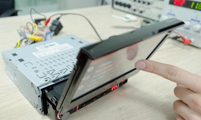Шлейф механизма выдвижного экрана магнитолы