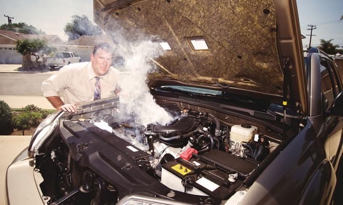 Закипание антифриза при перегреве двигателя