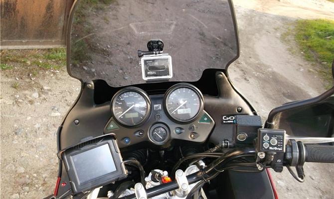 Установка устройства на мотоциклетную раму