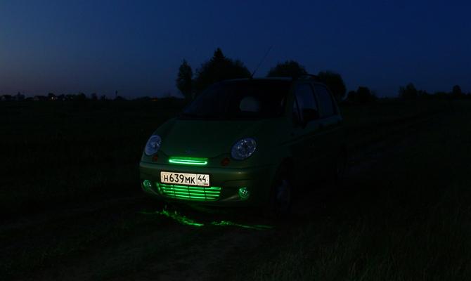Светодиодная подсветка переднего бампера