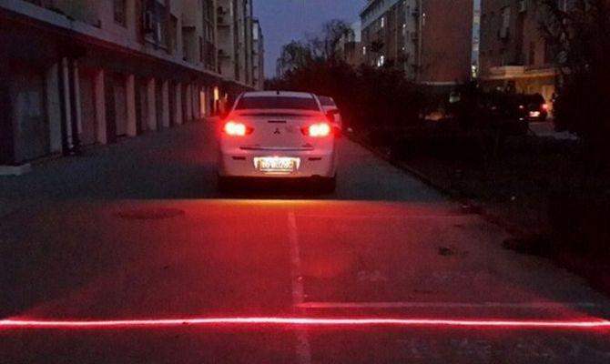 Лазерный стоп сигнал в действии