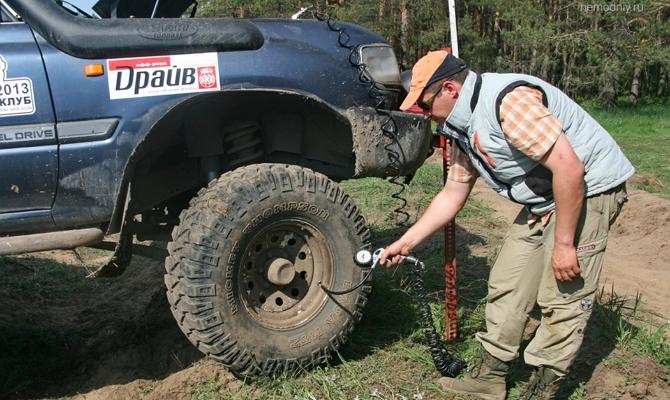 Измерение давления шины низкого давления
