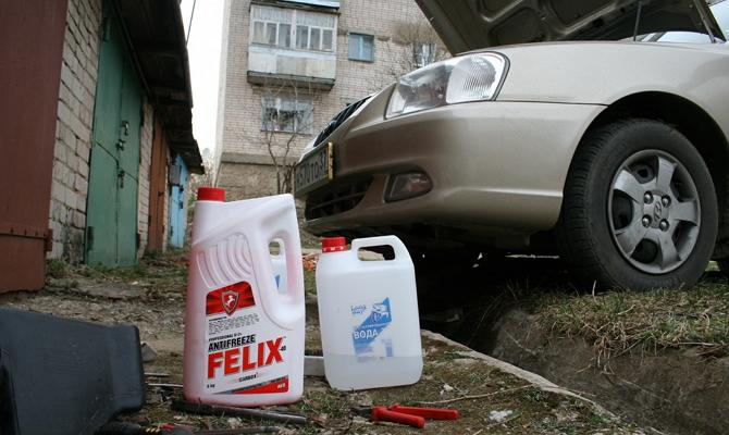 Красный антифриз стандарта G12 «Felix Carbox 40»