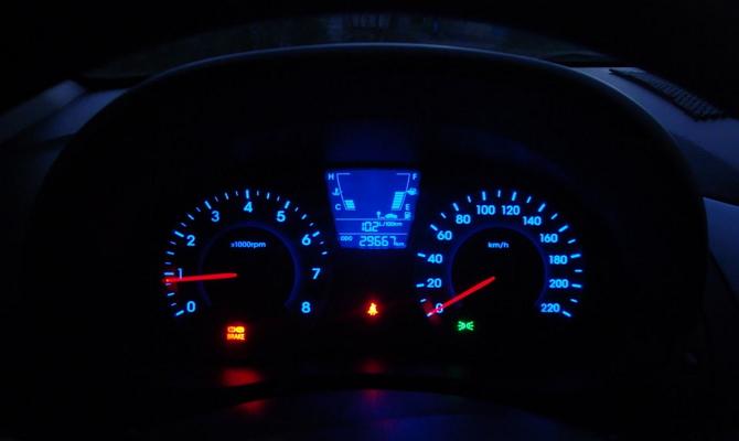 Новые штатные шкалы приборного щитка Hyundai Accent