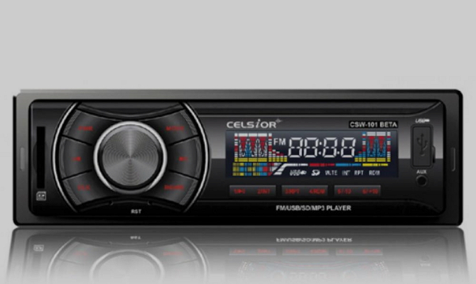 Автомагнитола с аудиоформатом МР3