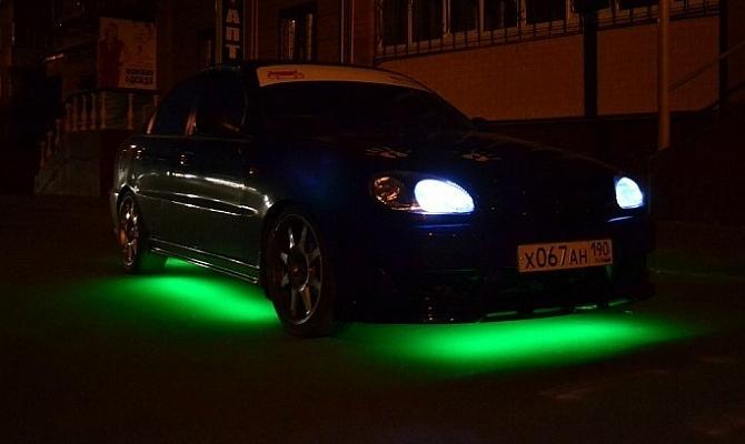 Горизонтальные светодиоды для подсветки авто