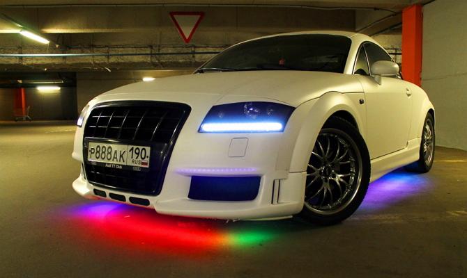 Подсветка днища автомобиля своими руками