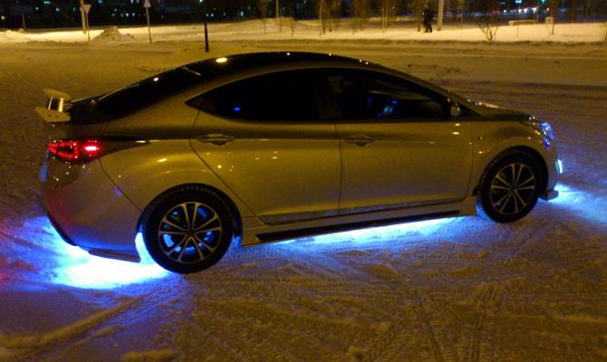 Подсветка дисков автомобиля – простой, но яркий элемент тюнинга