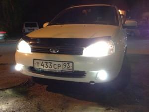 Фото системы освещения Лады Калины, drive2.ru