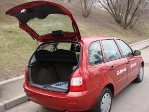 На фото - открытый багажник на Лада Калина, lkforum.ru