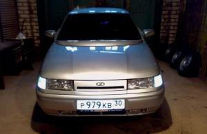 На фото - смена местами указателей поворота и ПТФ в ВАЗ 2112, лада2111.рф
