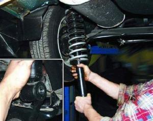 Фото замены амортизаторов подвески ВАЗ 2107, xenon-kiev.com.ua
