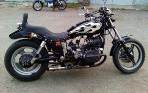 На фото - внешний тюнинг мотоцикла Днепр, ex.ua
