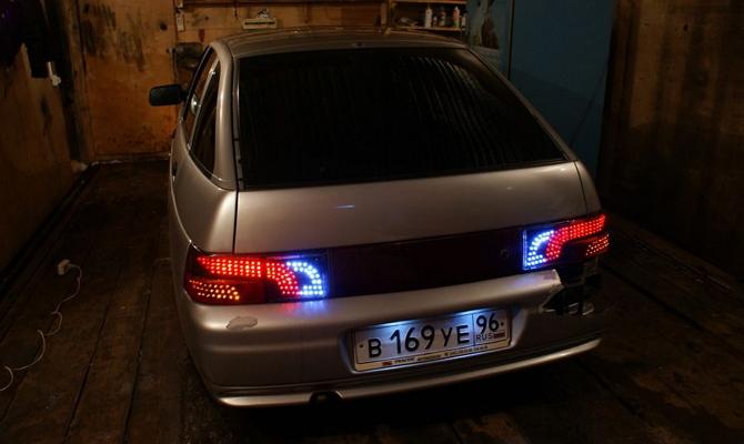 Тюнинг задних фонарей ВАЗ 2110 светодиодами