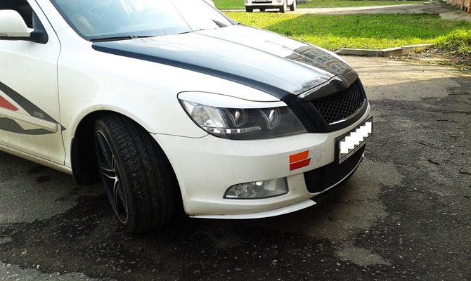 Реснички на переднюю оптику авто
