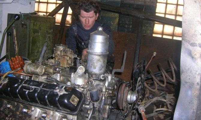 Фото замены двигателя ГАЗ 66