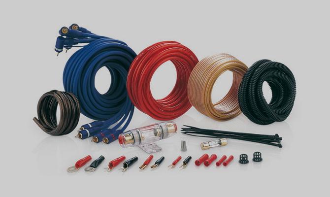 Питающие провода для подключения усилителя автомагнитолы