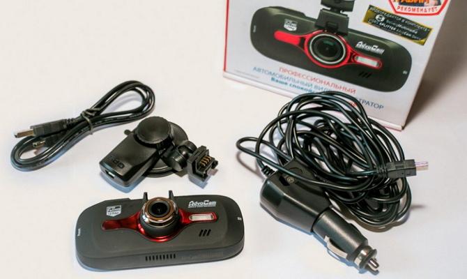 Стандартная комплектация видеорегистратора