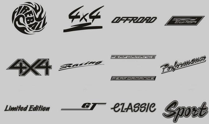Типы спортивных наклеек