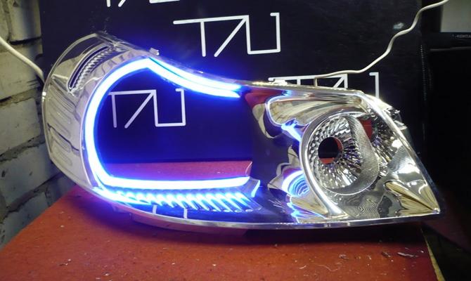Крепление светодиодных ламп на фонари
