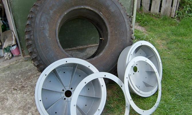 Распорные кольца для установки покрышек