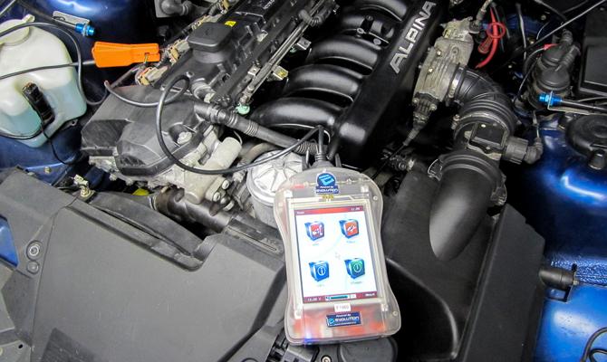 Подключение коробочного модуля к мотору авто