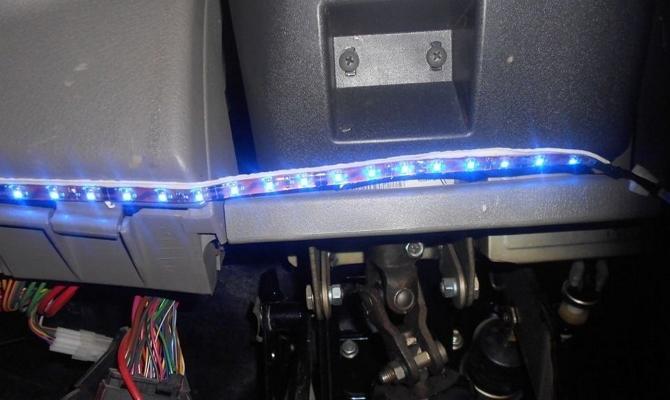 Подключение светодиодной ленты к прикуривателю