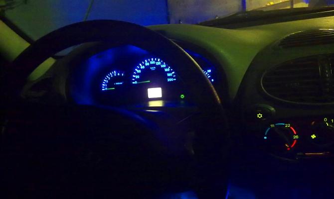 Тюнинг подсветки приборного щитка Лады