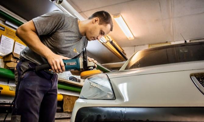 Профессиональная полировка авто шлифовальным диском